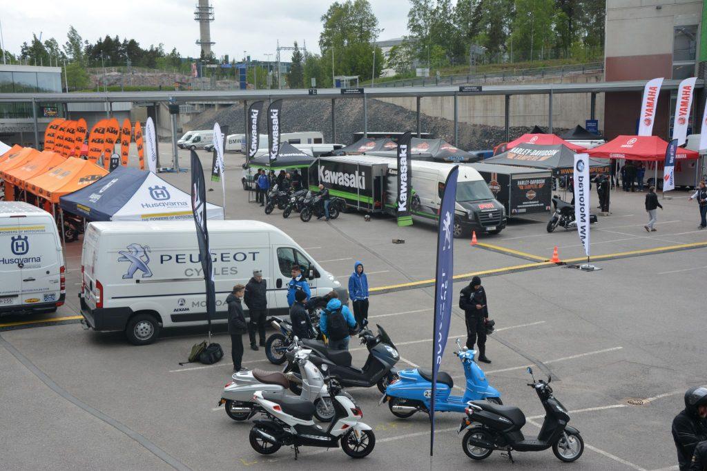 moottoripyörien koeajopäivä